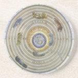Vintage Astronomy Celestial Ptolemaic Planisphere Drink Coasters