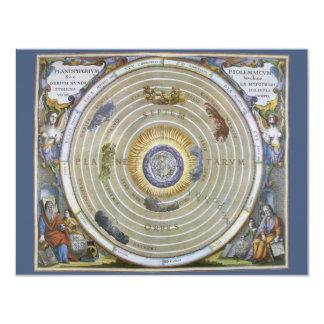 Vintage Astronomy Celestial Ptolemaic Planisphere 4.25x5.5 Paper Invitation Card