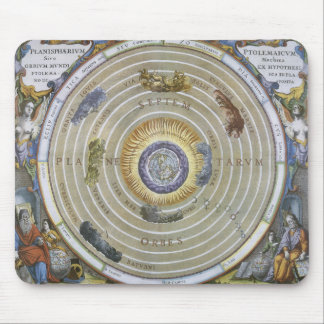 Vintage Astronomy Celestial Ptolemaic Planisphere Mouse Pad
