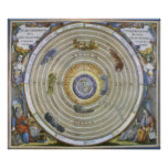 Vintage Astronomy Celestial Ptolemaic Planisphere Posters