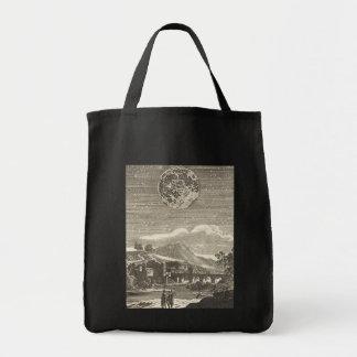 Vintage Astronomy Celestial Renaissance Moon Stars Canvas Bag