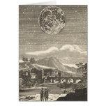Vintage Astronomy Celestial Renaissance Moon Stars Greeting Card