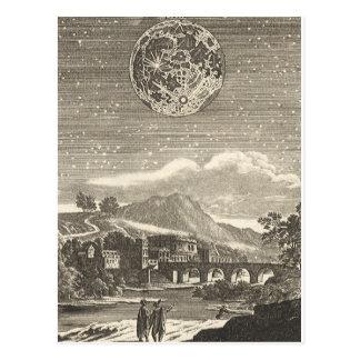 Vintage Astronomy Celestial Renaissance Moon Stars Post Card