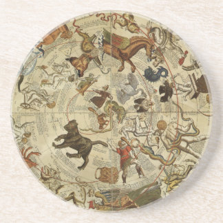 Vintage Astronomy, Celestial Sky Map Star Chart Drink Coaster