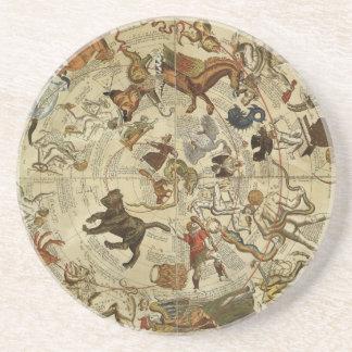 Vintage Astronomy, Celestial Sky Map Star Chart Drink Coaster
