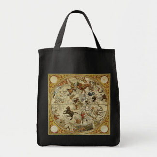 Vintage Astronomy, Celestial Sky Map Star Chart Tote Bag