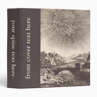 Vintage Astronomy, Celestial Sky, Sun by Mallet 3 Ring Binder