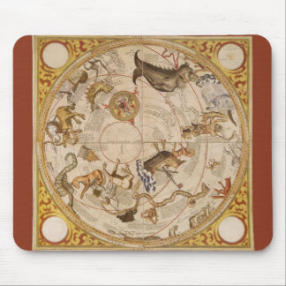 Vintage Astronomy Celestial Star Planisphere Map Mouse Pads