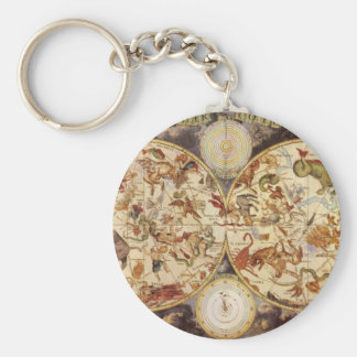 Vintage Astronomy Celestial Stars in the Night Sky Key Chain