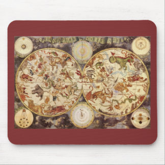 Vintage Astronomy Celestial Stars in the Night Sky Mousepads