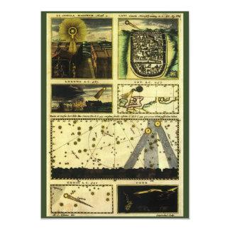 Vintage Astronomy, Celestial Stars, Stella Magorum 5x7 Paper Invitation Card