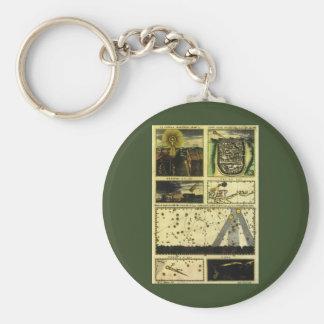 Vintage Astronomy, Celestial Stars, Stella Magorum Basic Round Button Keychain