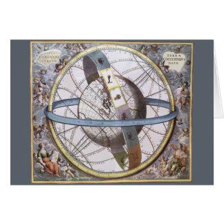 Vintage Astronomy, Celestial Zodiac Planisphere Greeting Cards
