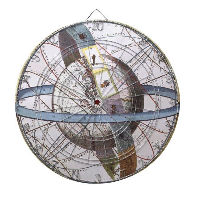 vintage astronomy celestial zodiac planisphere dartboard 382118. Black Bedroom Furniture Sets. Home Design Ideas