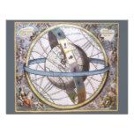 Vintage Astronomy, Celestial Zodiac Planisphere Personalized Invites