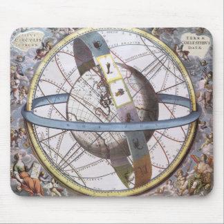 Vintage Astronomy Celestial Zodiac Planisphere Mousepads