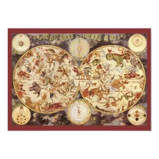 Vintage Astronomy Constellations, Frederik de Wit Card