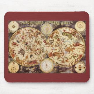 Vintage Astronomy Constellations, Frederik de Wit Mouse Pad