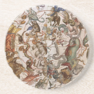 Vintage Astronomy, Constellations of Southern Sky Beverage Coaster
