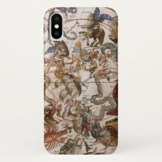 Vintage Astronomy, Constellations of Southern Sky iPhone X Case