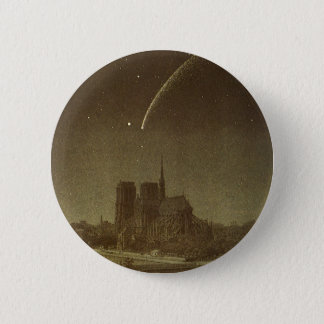 Vintage Astronomy, Donati Comet over Paris, 1858 Button