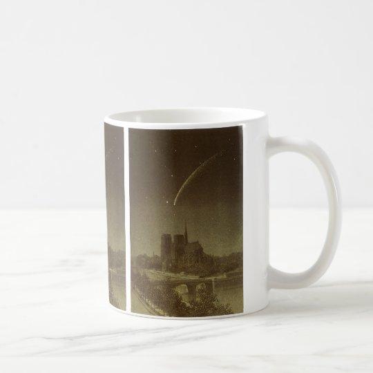 Vintage Astronomy, Donati Comet over Paris, 1858 Coffee Mug