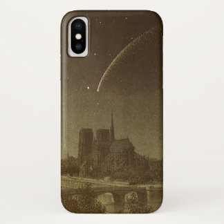 Vintage Astronomy, Donati Comet over Paris, 1858 iPhone X Case