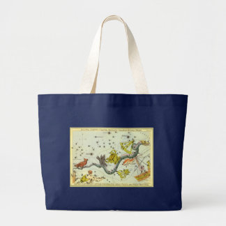 Vintage Astronomy, Hydra Snake Constellation Stars Bag