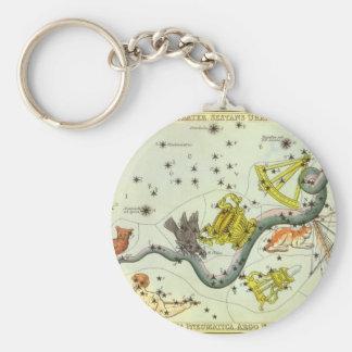 Vintage Astronomy, Hydra Snake Constellation Stars Keychain