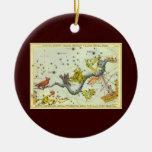 Vintage Astronomy, Hydra Snake Constellation Stars Christmas Ornament