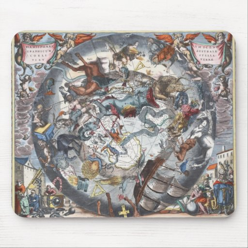 Vintage Astronomy Map Mouse Pad
