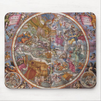 Vintage Astronomy Map of Christian Constellations Mousepads