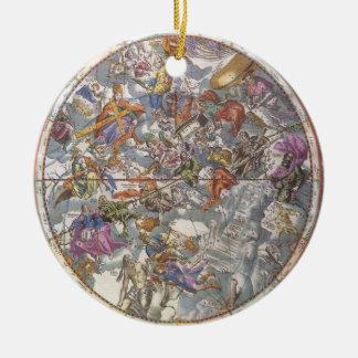 Vintage Astronomy, Map of Christian Constellations Ornament
