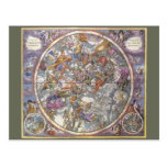 Vintage Astronomy, Map of Christian Constellations Postcards
