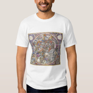 Vintage Astronomy, Map of Christian Constellations Shirts