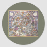 Vintage Astronomy, Map of Christian Constellations Stickers