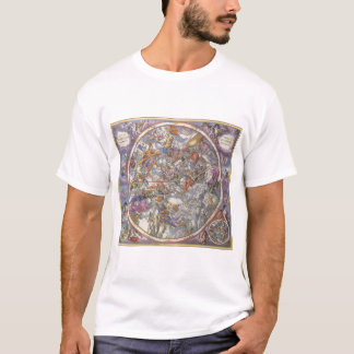 Vintage Astronomy, Map of Christian Constellations T-Shirt