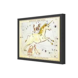 Vintage Astronomy, Monoceros Unicorn Constellation Canvas Print