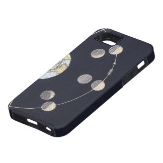 Vintage Astronomy, Phases of the Moon with Earth iPhone SE/5/5s Case