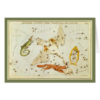 Vintage Astronomy, Star Chart, Constellations Map Greeting Card