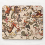 Vintage Astronomy, Star Map by Johannes van Keulen Mouse Pad