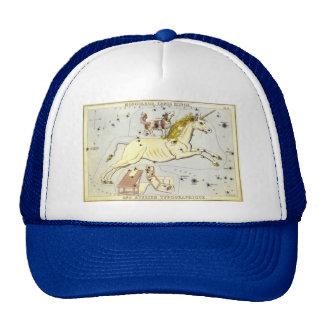 Vintage Astronomy, Unicorn Monoceros Constellation Trucker Hats