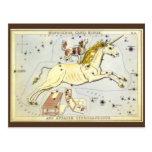 Vintage Astronomy, Unicorn Monoceros Constellation Postcard