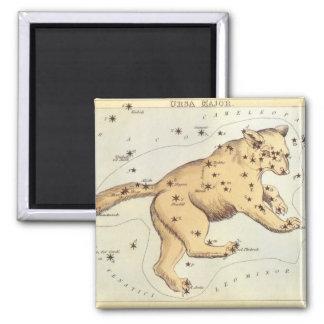 Vintage Astronomy, Ursa Major Constellation, Bear 2 Inch Square Magnet