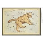 Vintage Astronomy, Ursa Major Constellation, Bear Greeting Card