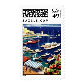 Vintage Athens Greece Travel Postage Stamp