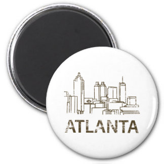 Vintage Atlanta 2 Inch Round Magnet