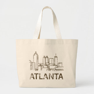 Vintage Atlanta Large Tote Bag