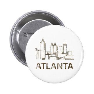 Vintage Atlanta Pin Redondo 5 Cm