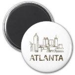 Vintage Atlanta Refrigerator Magnet